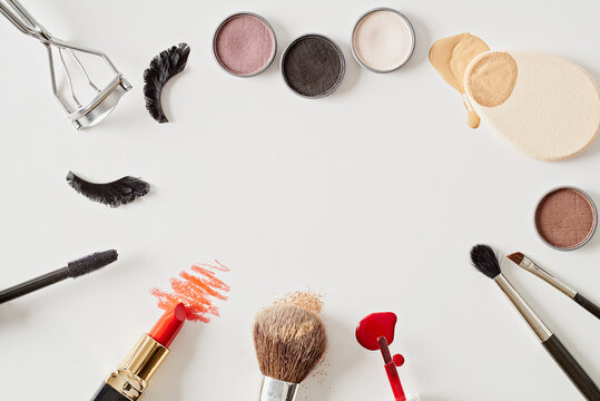 Collection of make up utensils