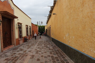 narrow street in old port city