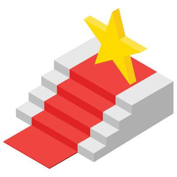 Award Ceremony, isometric vector icon.