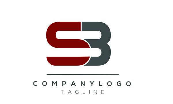 SB initials monogram letter text alphabet logo design