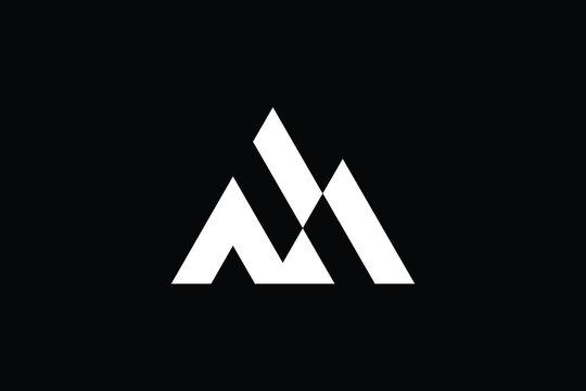 Minimal Innovative Initial MN logo and NM logo. Letter M N NM MN creative elegant Monogram. Premium Business logo icon. White color on black background