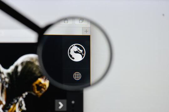 Milan, Italy - August 20, 2018: Mortal Kombat X website homepage. Mortal Kombat X logo visible.