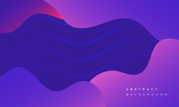 Colorful gradient liquid wavy shapes, business and technology background Free Vector and illustration