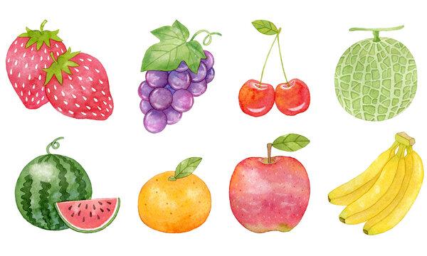 イラスト素材:フルーツのセット