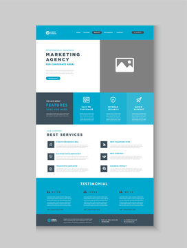 Business Website Landing Page   App Landing Page   Web User Interface Design   Web Wire-frame Template