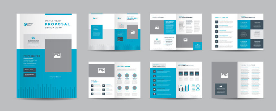 Corporate Business Project Proposal Design | Annual Report and Company Brochure | Booklet and Catalog Design