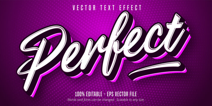 Perfect text, sport style editable text effect