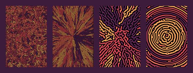 Fototapeta Vector abstract background bio diffusion. geometric obraz