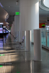 Empty transit center in San Francisco due to pandemic