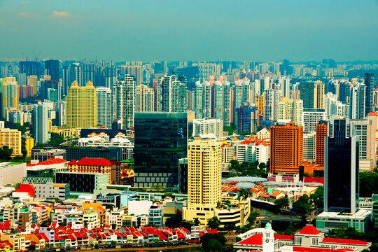 Buildings Skyline in Singapore City