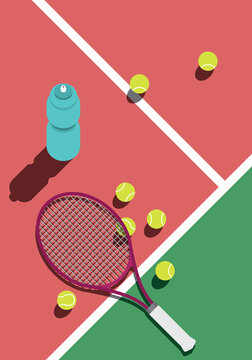 tennis training rest illustration