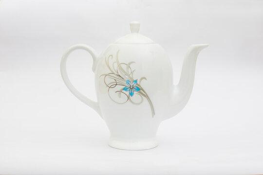 White Ceramic Tea Kettle
