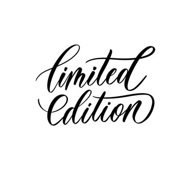 Limited edition lettering inscription for tag and label.