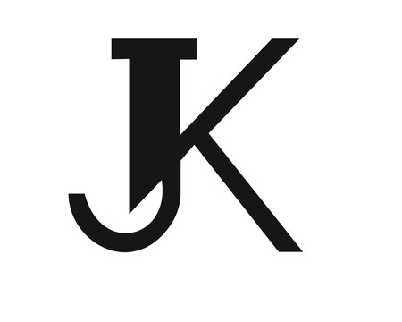 j and k creative logo design and monogram