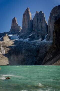 torres del paine national park chile Patagonia. Granite mountain most beautiful place in the world in south america