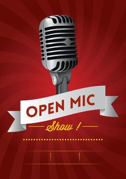 open mic show poster design