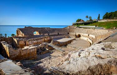 Amphitheater in Tarragona, roman ruins