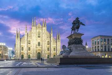 Wall Mural - Milan Cathedral the famous place in Milan, Italy