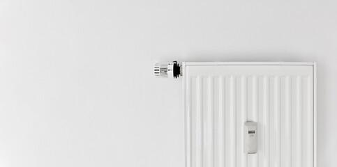 Photo sur Aluminium Fleur Heating with plate radiator and heat cost allocator