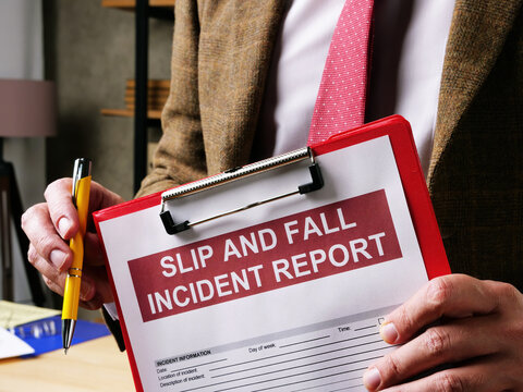 Lawyer offers slip and fall accident report form.