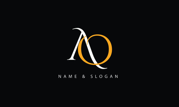 AO, OA, A, O abstract letters logo monogram