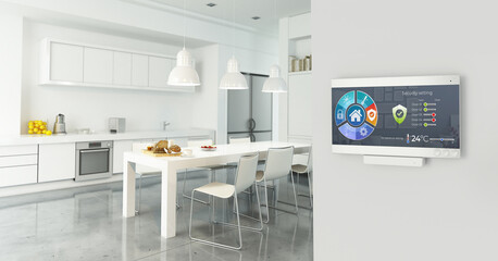 Deurstickers Graffiti collage Home automation control station