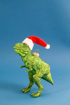 T-Rex mit Nikolaus Hut