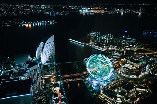 横浜の夜景(ランドマークタワー)