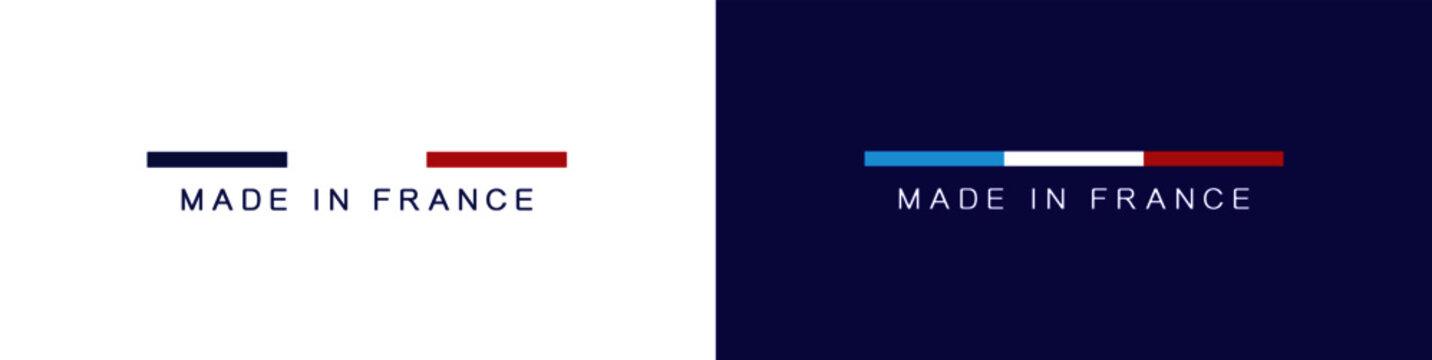 MADE IN FRANCE - LOGO - LABEL - BLUE