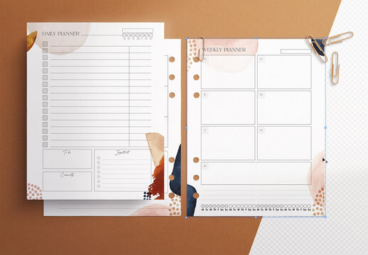 Planner Inserts Mockup