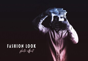 Fashion Look Duotone Photo Effect Mockup