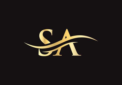 SA logo design. SA Logo for luxury branding. Elegant and stylish design for your company