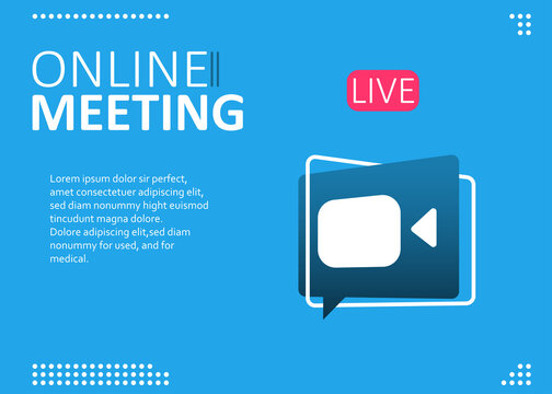 Online webinar, meeting. Webinars and web meetings at the level of colleagues, modern education. Vector illustration
