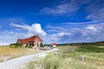 Domaene Bill, a well-known restaurant on the west end of the East Frisian island Juist, Germany.