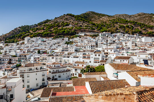 Mijas village in Andalusia with white houses, Spain