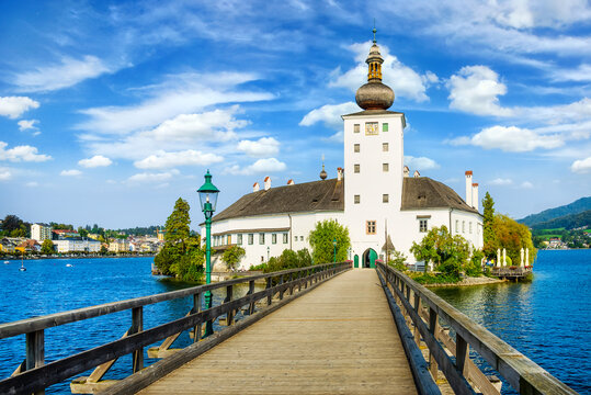 Schloss Ort (or Schloss Orth) is an Austrian castle situated in the Traunsee lake, in Gmunden