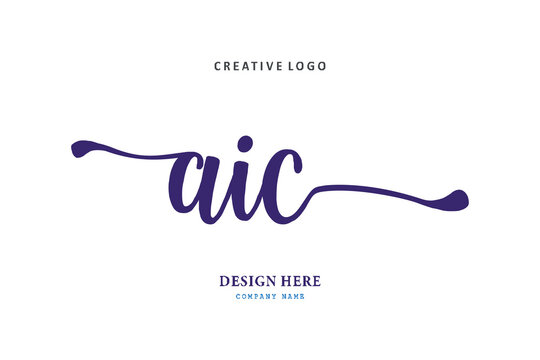 pharmacy logo AIC letter is simple, easy to understand and authoritative