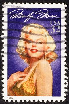 Marilyn Monroe on american postage stamp