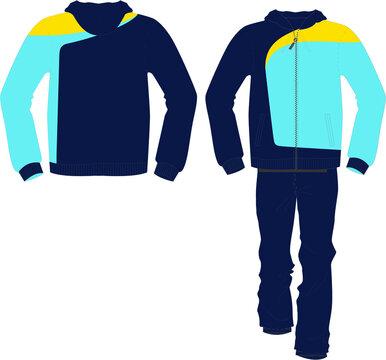 Men Jogger Track Suits and Sweat Trouser vectors