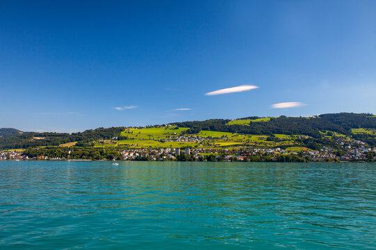 Seaside of Rorschach, Lake Constance, Canton of St. Gallen, Switzerland, Europe