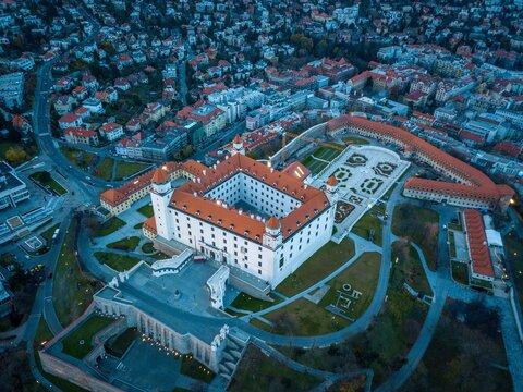 Aerial View Of Bratislava Castle