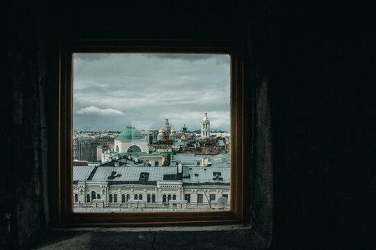 Buildings In St Petersburg Seen Through Window