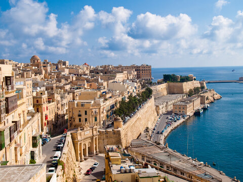 View of Valletta, the capital city of Malta