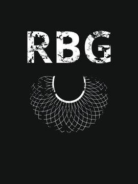 Notorious RBG background, banner, poster, sticker, t-shirt design