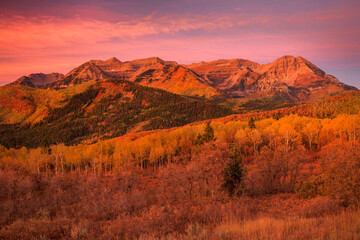 Autumn landscape in the Wasatch Mountains, Utah, USA.