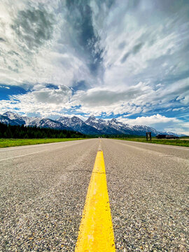 Paved road within Grand Teton National Park