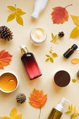 Photo sur Aluminium Fleur Autumn Skin Care Cosmetics