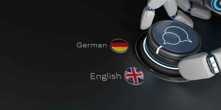 KI Übersetzer von Deutsch zu Englisch