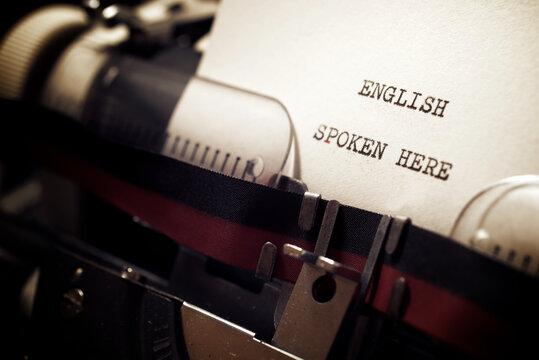 English spoken here phrase