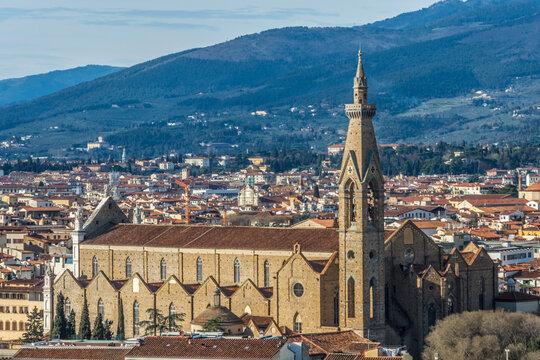1875  Florenz - Basilica di Santa Croce di Firenze